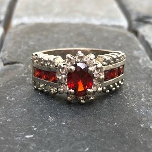 Red and diamond ring